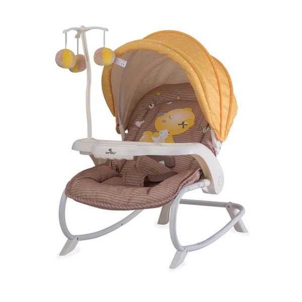Lorelli Бебешки шезлонг DREAM TIME Beige & Yellow My Baby 61809